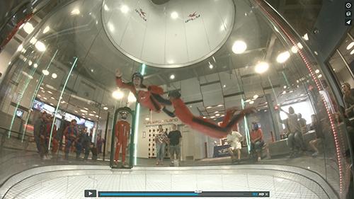 Adam Waring indoor sky dives