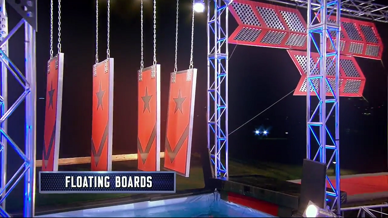 Australian Ninja Warrior Season 1 Grand Final Floating Boards