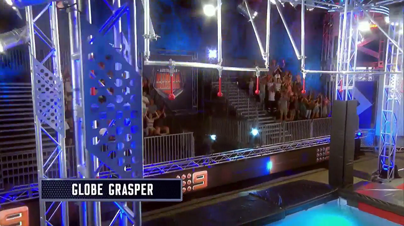 Australian Ninja Warrior Season 1 Grand Final Globe Grasper