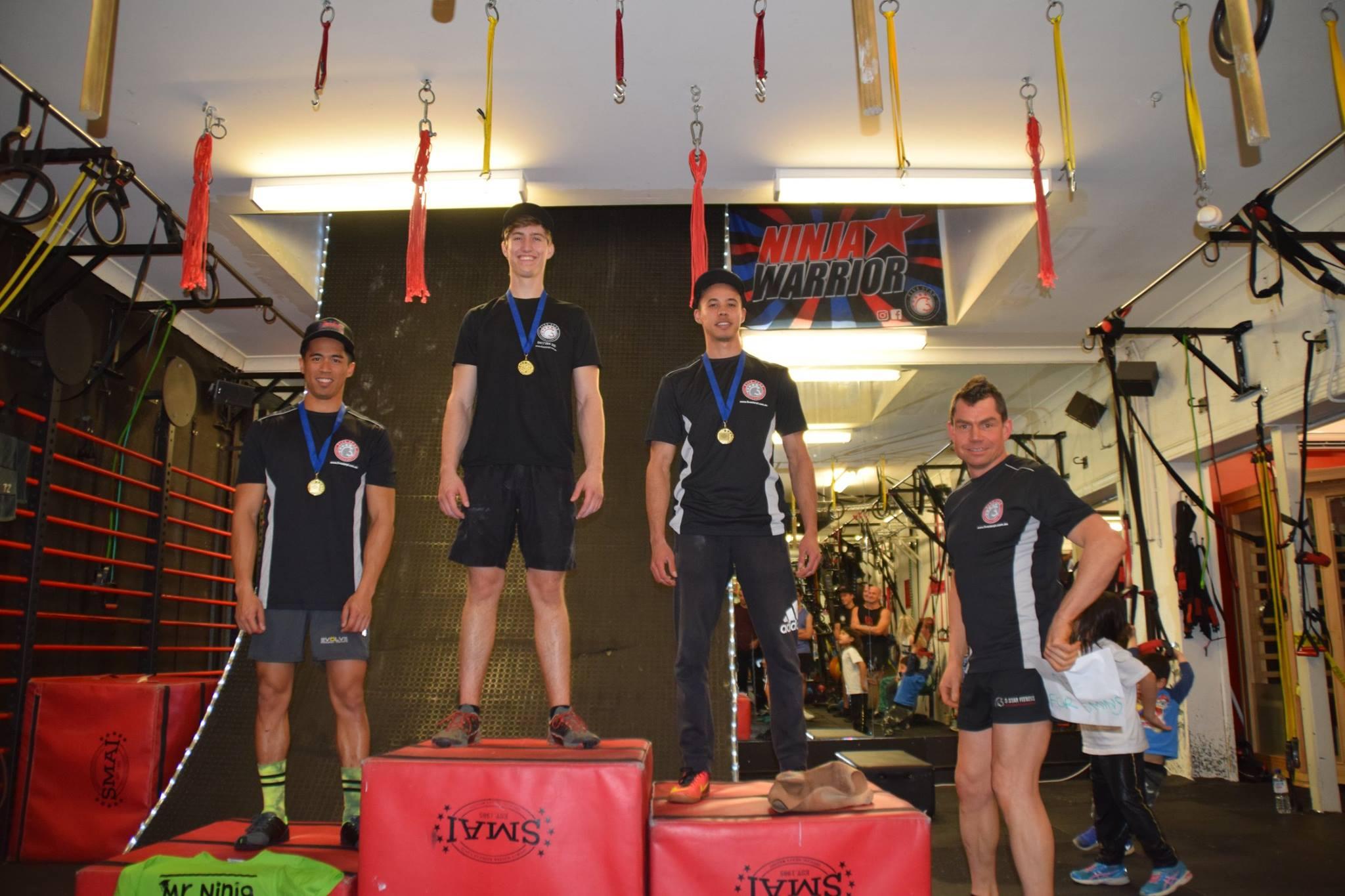 Sydney Ninja Warrior Games Podium