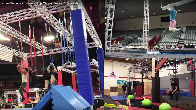 Adam Waring - Australian Ninja Warrior Application Video 2017