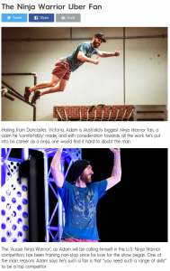 Adam Waring on Australian Ninja Warrior