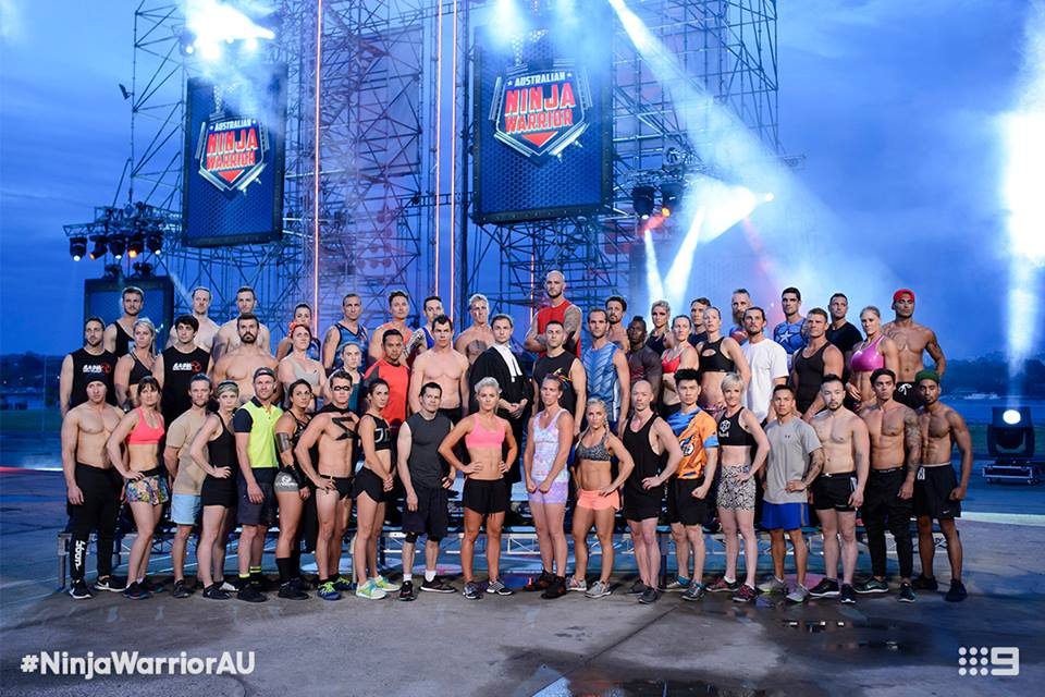 Australian Ninja Warrior Season 1 Episode 3 Cast
