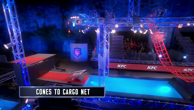 Australian Ninja Warrior Season 1 Episode 5 Cones to Cargo Net