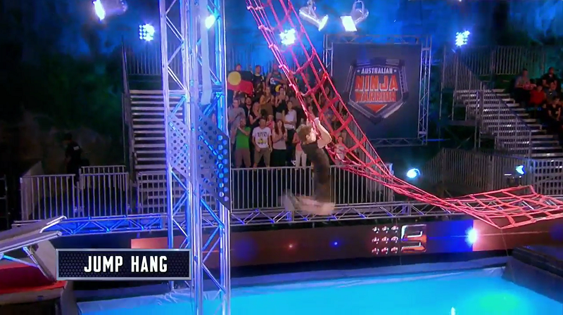 Australian Ninja Warrior Season 1 Grand Final Jump Hang