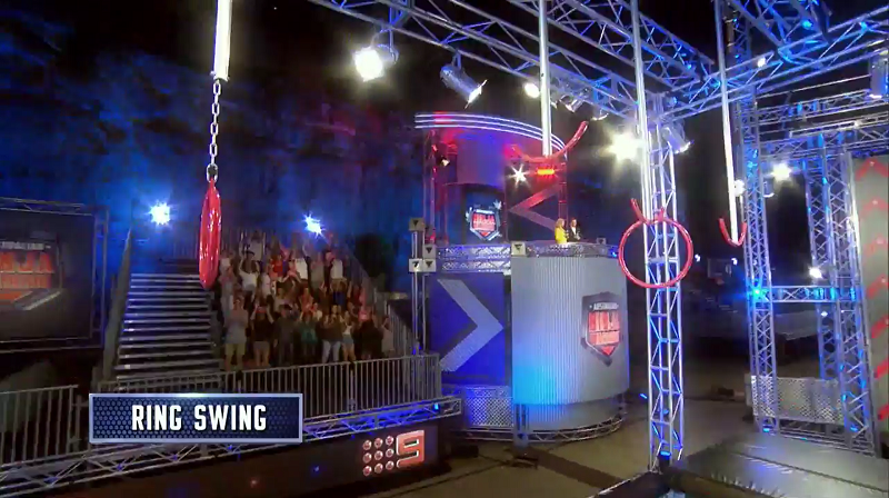 Australian Ninja Warrior Season 1 Grand Final Ring Swing