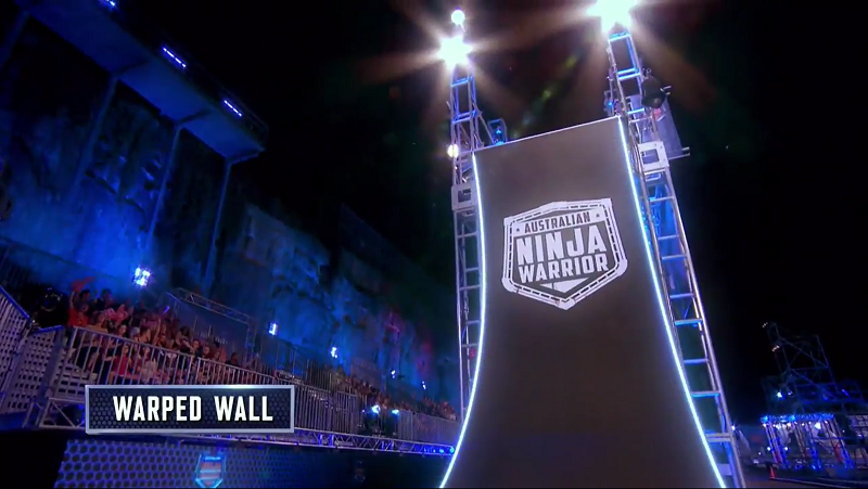 Australian Ninja Warrior Season 1 Grand Final Warped Wall