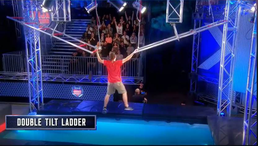 Australian Ninja Warrior Season 1 Episode 1 Double Tilt Ladder