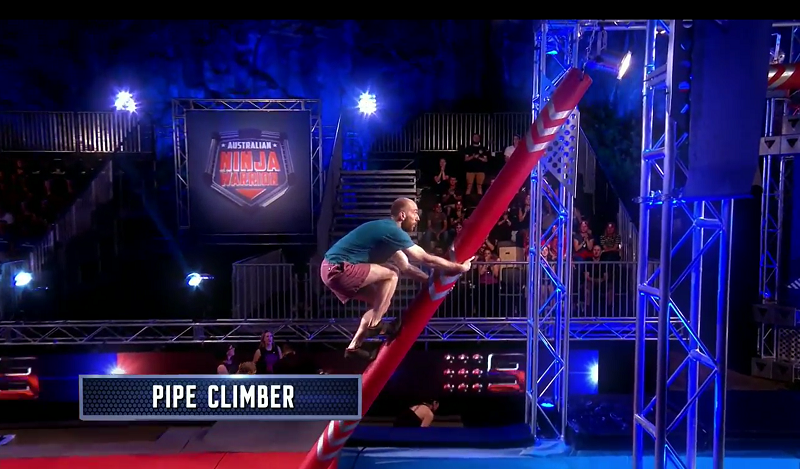 Australian Ninja Warrior Season 1 Episode 4 Pipe Climber