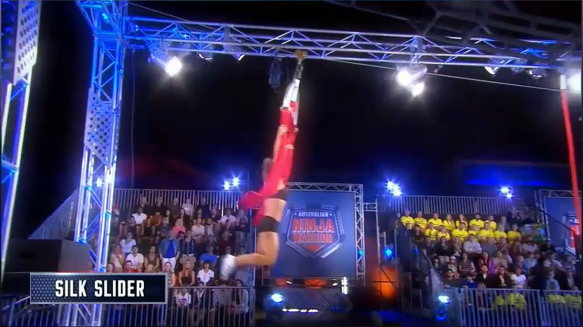 Australian Ninja Warrior Season 1 Episode 1 Silk Slider