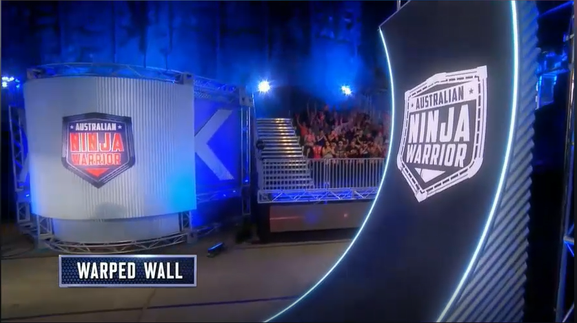 Australian Ninja Warrior Season 1 Episode 1 Warped Wall